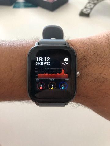 Smartwatch Colmi P8 Pulseira de Silicone Cinza Compatível com IPhone e iOS - Foto 5