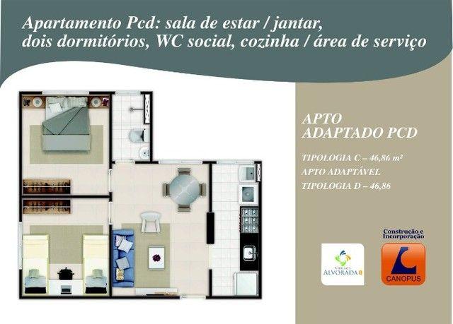 Oportunidade p/ Sair do Aluguel - Cond. Village Alvorada - Aptos c/ 2 quartos - Foto 12