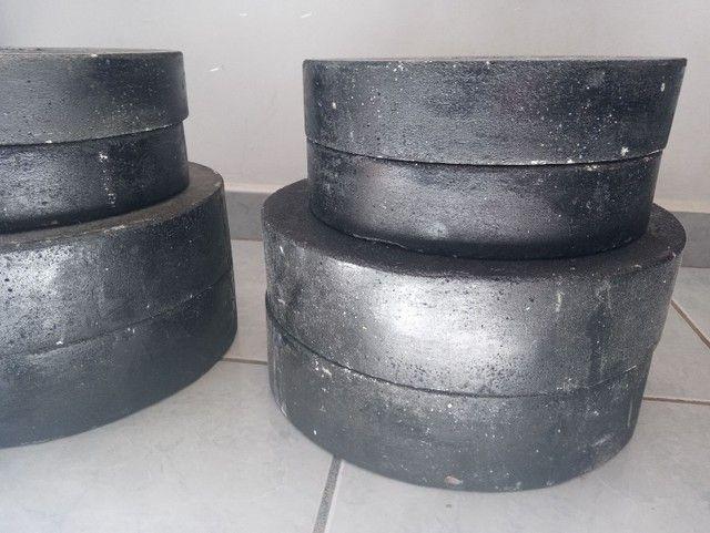 Pesos de cimento bem preparados  - Foto 2