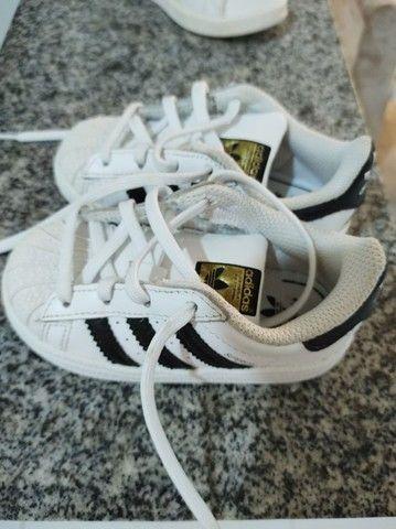 Tênis Adidas superstar - tamanho 21 - Foto 2