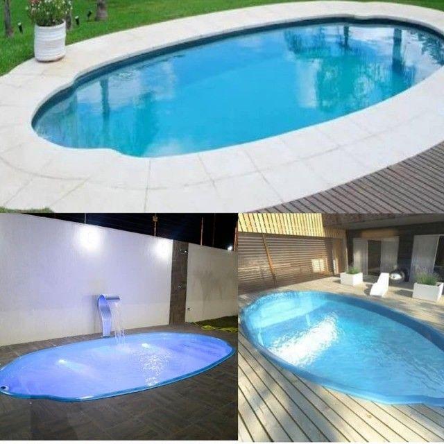 piscina de fibra leds de brinde 7 metros - Foto 6