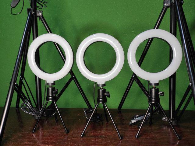 Kit Ring Light 6 pol + tripé - Foto 2