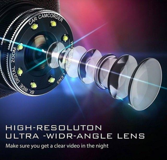 Camera veicular HD gravador, câmera de ré, 170° com sensor de movimento - Nova - Foto 2