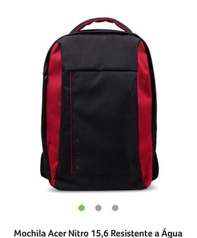 Mochila para notebook Acer Nitro 15,6 Resistente a Água, preto com vermelho! Nova!