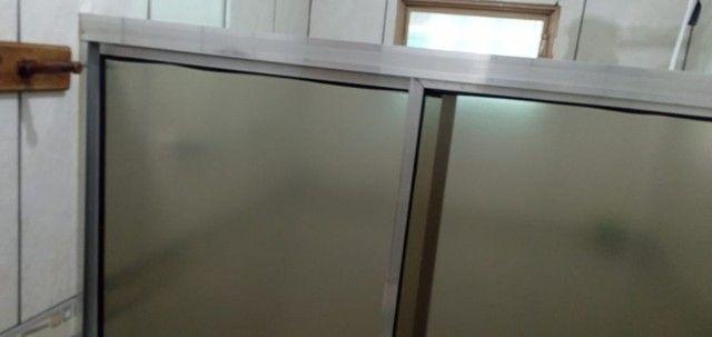 Box para Banheiro em Acrílico estava instalado na medida 1,34m - Foto 4