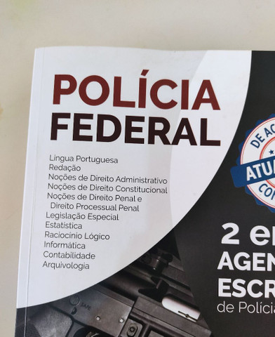 Polícia Federal Agente e Escrivão 2 em 1 Apostila Alfacon - Foto 2