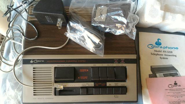 VINTAGE - ANOS 60/70 - Secretaria eletrônica 100% OK
