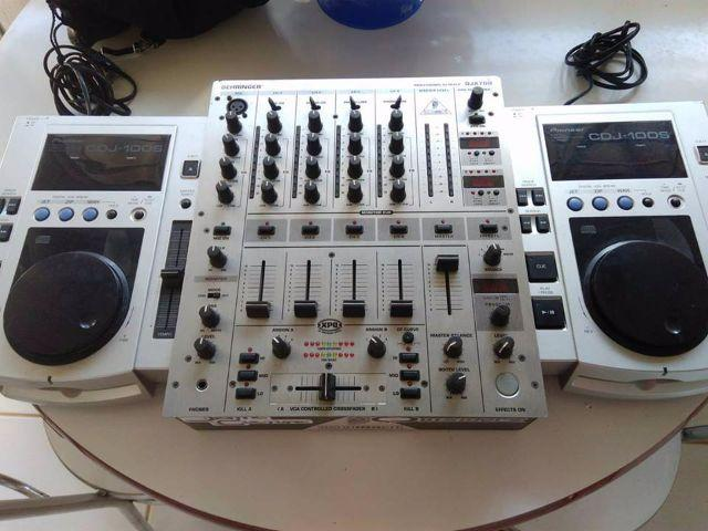 CDJ 100´s + Mixer Behringer DJX700