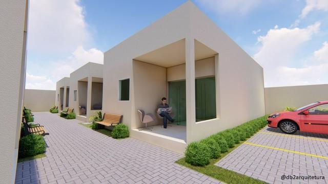 Casa no Luiz Gonzaga - 66m², Condomínio fechado com 6 casas, Financiamento Caixa