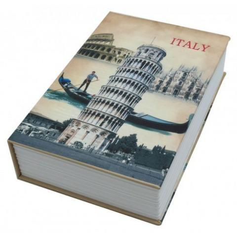 Livro Cofre Camuflado Pequeno escondido secreto joias talão cheque - Foto 4