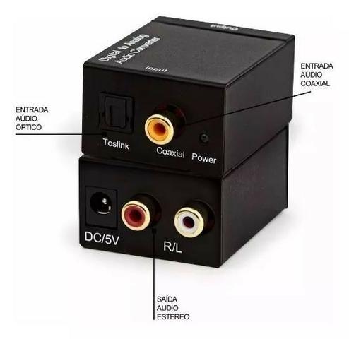 Conversor Audio Optico Digital Para Rca Analógico - Foto 2