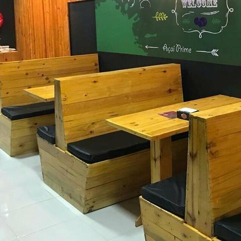 Açai,lanchonetes,balcao,bancos bolt,cobertas,decks,painel de paletes e madeiras - Foto 5