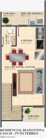 Sobrado no bairro passo manso, no residencial diamantina, casa 03, com 02 dormitórios, 1 v - Foto 18