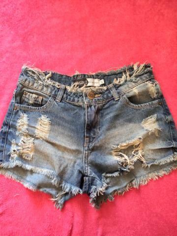 Conjunto camiseta + short + camisa jeans - Foto 4