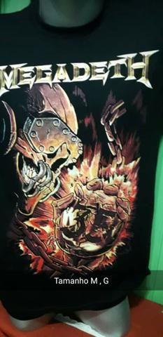 Camisa Preta 100% algodão, Iron Maiden - Foto 5