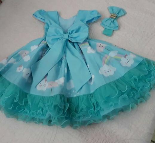 Vestido festa infantil Chuva de Bênçãos Amor - Foto 4