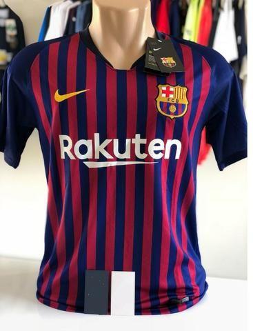 Camisa Nike Barcelona 18 19 - S n - Oficial tamanho G e GG únicas ... b955ecf92d992