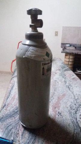 Regulador de alta pressão 1000 psi mais cilindro de nitrogenio 7L - Foto 2