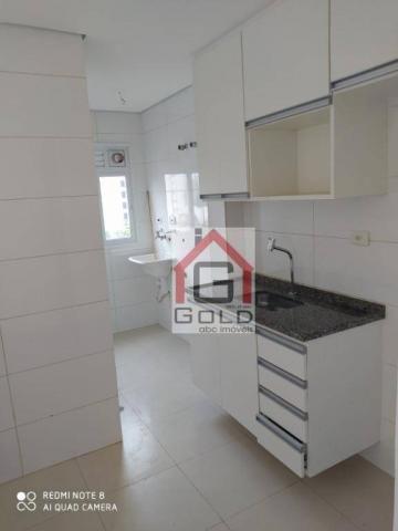 Apartamento com 3 dormitórios para alugar, 88 m² por R$ 2.000,00/mês - Campestre - Santo A - Foto 8