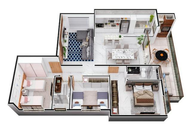 Apartamento em Ipatinga, 3 qts/suíte, 119 m², Elev, 2 vgs, sac gourmet. Valor 479 mil - Foto 7