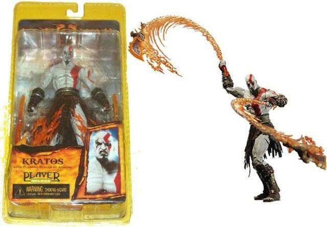 Kratos God Of War 18 cm - Com As Lâminas do Caos - Foto 3