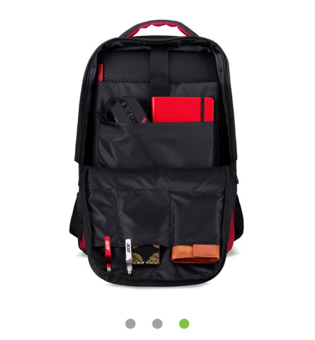 Mochila para notebook Acer Nitro 15,6 Resistente a Água, preto com vermelho! Nova! - Foto 3