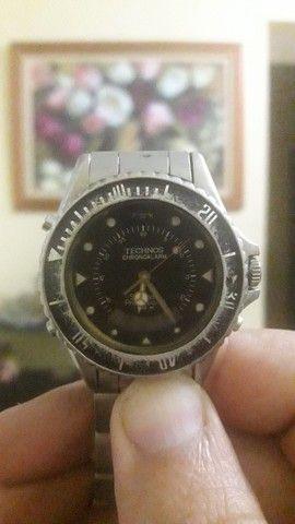 Troco este relógio  Technos inox 150m