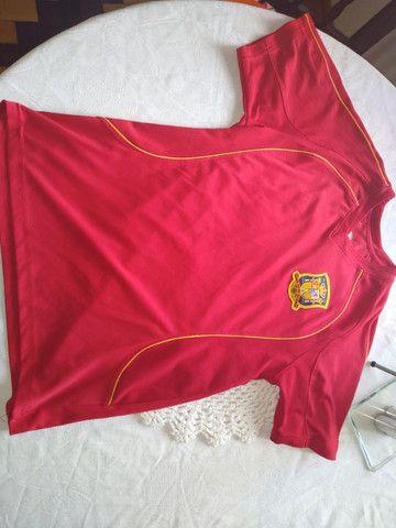Camisas Seleções Argentina 2006 e Espanha 2008. Originais - Foto 3