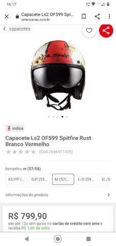 Capacete Ls2 OF 599 Spitfire Rust - Foto 6