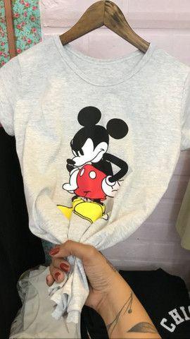 Blusa feminina camiseta T-shirt 100% Algodao - Foto 3