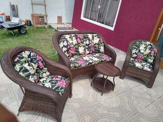 Conjunto de sofa livia em fibra sintética  - Foto 2