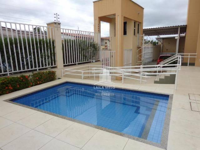 Apartamento villa bella mobiliado com 02 suítes; engenheiro luciano cavalcante, fortaleza