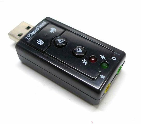 Placa de som USB. Adaptador de fone de ouvido (Áudio Micro)