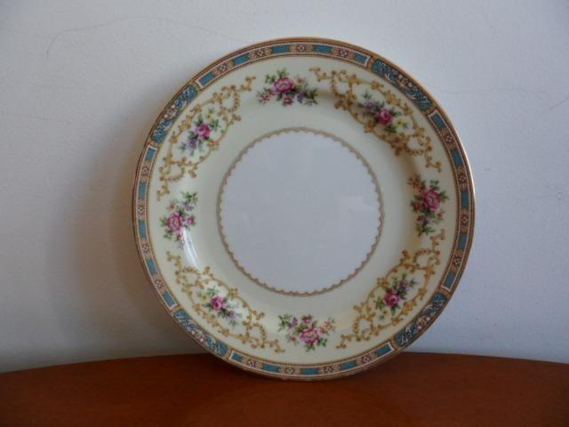 6 Pratos de Salada (Saucer Plates) Porcelana Chinesa Noritake 5032 Colby Blue - Foto 6