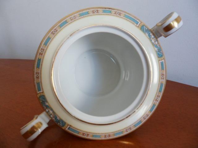 Açucareiro (Sugar Bowl & Lid) em Porcelana Chinesa Noritake 5032 Colby Blue - Foto 6