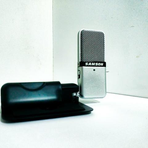 Microfone condensador USB portátil Samson GoMic