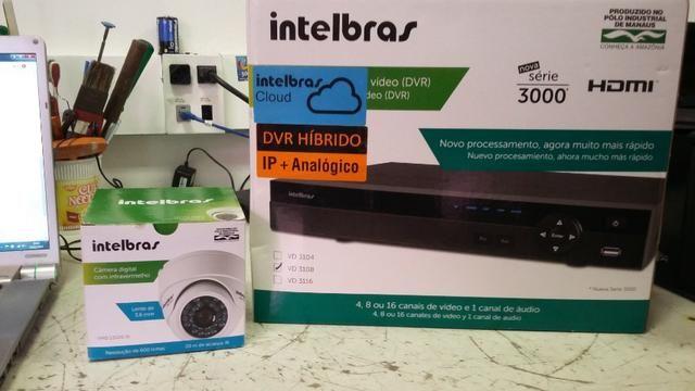 DVR + HD500GB e uma camera intelbras