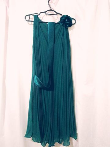 Vestido de festa verde petroleo