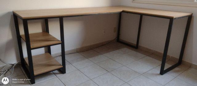 Móveis home office estilo industrial - Foto 4