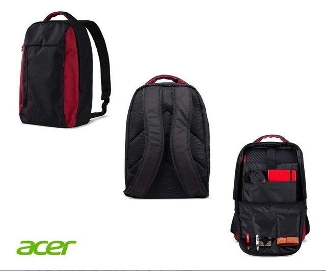 Mochila para notebook Acer Nitro 15,6 Resistente a Água, preto com vermelho! Nova! - Foto 4