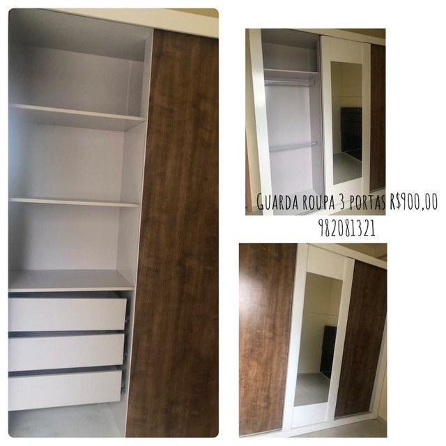 Guarda roupa três portas , estante , colchão beliche armário de cozinha  - Foto 2