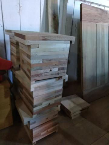 Caixa de abelha completa ninho +2 melgueiras colméia apicultura - Foto 6