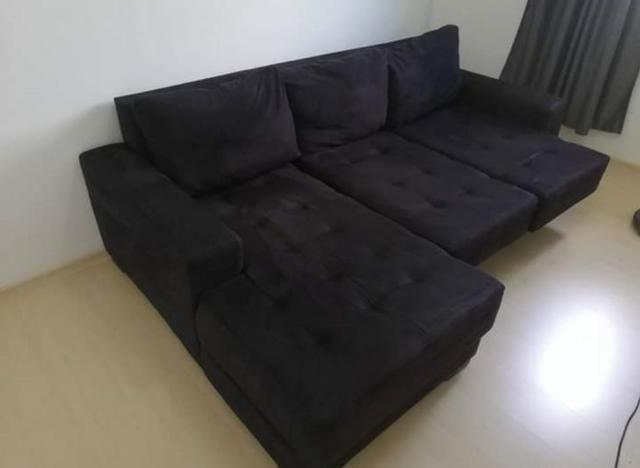 Wondrous Sofa 3 Lugares Retratil Com Chaise Machost Co Dining Chair Design Ideas Machostcouk