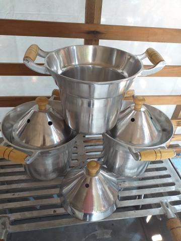 Leiteira de alumínio batidos k não derrama leite - Foto 2