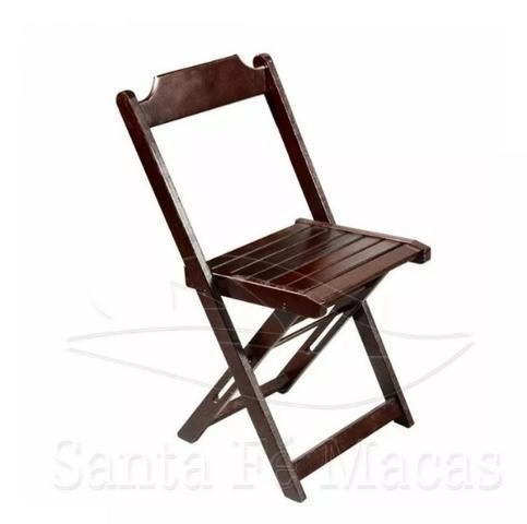 Conjunto de Mesa 70x70 com 4 Cadeiras Dobráveis - Madeira Teca/Imbuia - Foto 3