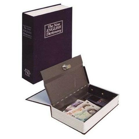 Livro Cofre Camuflado Pequeno escondido secreto joias talão cheque