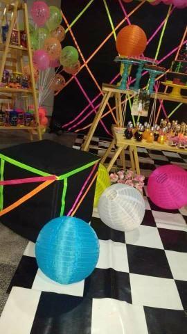 Festa neon em kit paletes - Foto 2