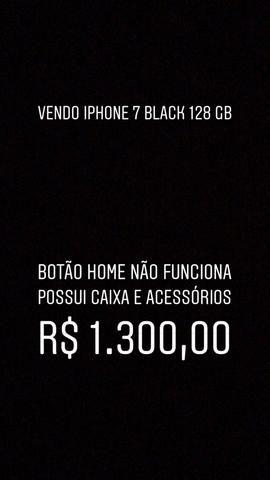 Iphone 7 black 128 gb - leia o anúncio - Foto 3