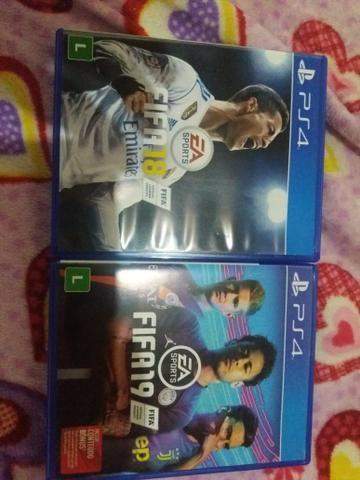 Jogo FIFA18 E FIFA19 VENDA OU TROCA