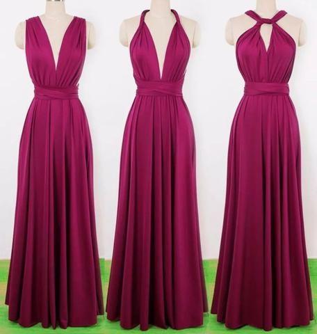 Vestido longo cor marsala (foto ilustrativa) - Foto 2